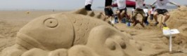 신두리 해변에서 아름다운 모래조각 향연 펼친다