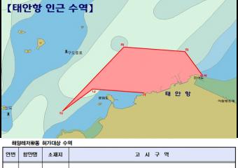태안해경, 수상레저활동 금지구역 위반 단속