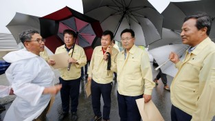 태안군민 100여 명 쏟아지는 빗속에서도 '원산-안면대교' 명칭 부당성 외쳐!