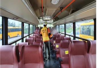 태안교육지원청, 어린이 통학차량 소독 실시